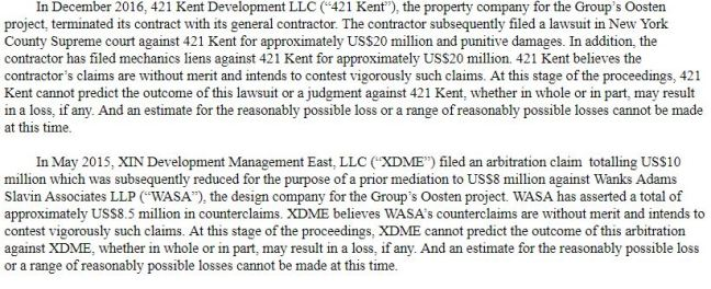 Oosten legal disputes
