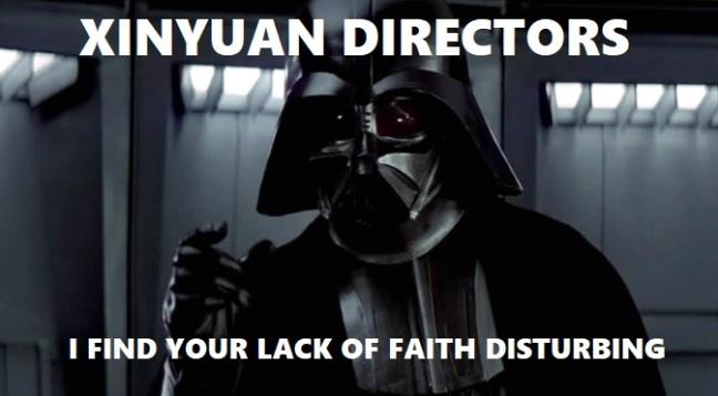 Xinyuan Directors Disturbing