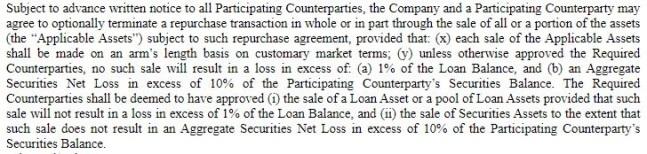 MITT Forbearance amendment