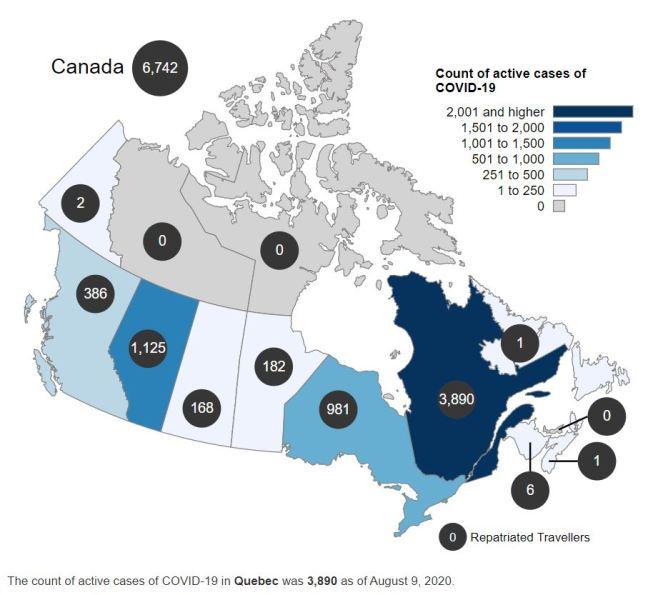 Canada COVID Active Cases 080920